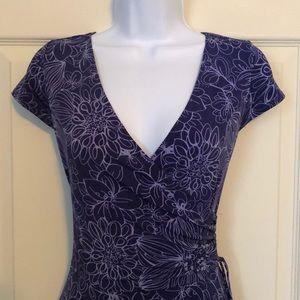 NY&Co faux wrap dress. Blue size medium